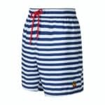 Donkerblauw met wit gestreepte zwembroek leukezwembroeken.nl_