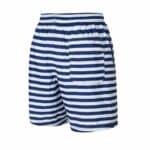 Donkerblauw met wit gestreepte achterkant zwembroek leukezwembroeken.nl_